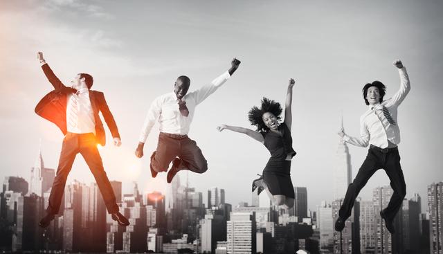 Business People Success Achievement City Concept