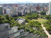 福岡天神フコク生命ビルから見下ろす天神中央公園